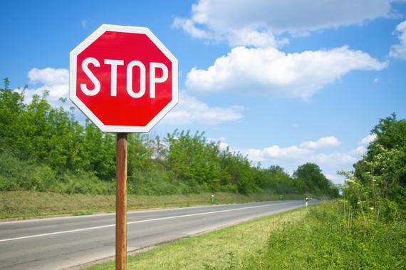 Stop Procrastinating (stop sign)