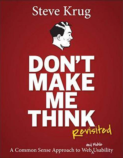 """Front cover of """"Don't Make Me Think"""" by Steve Krug"""