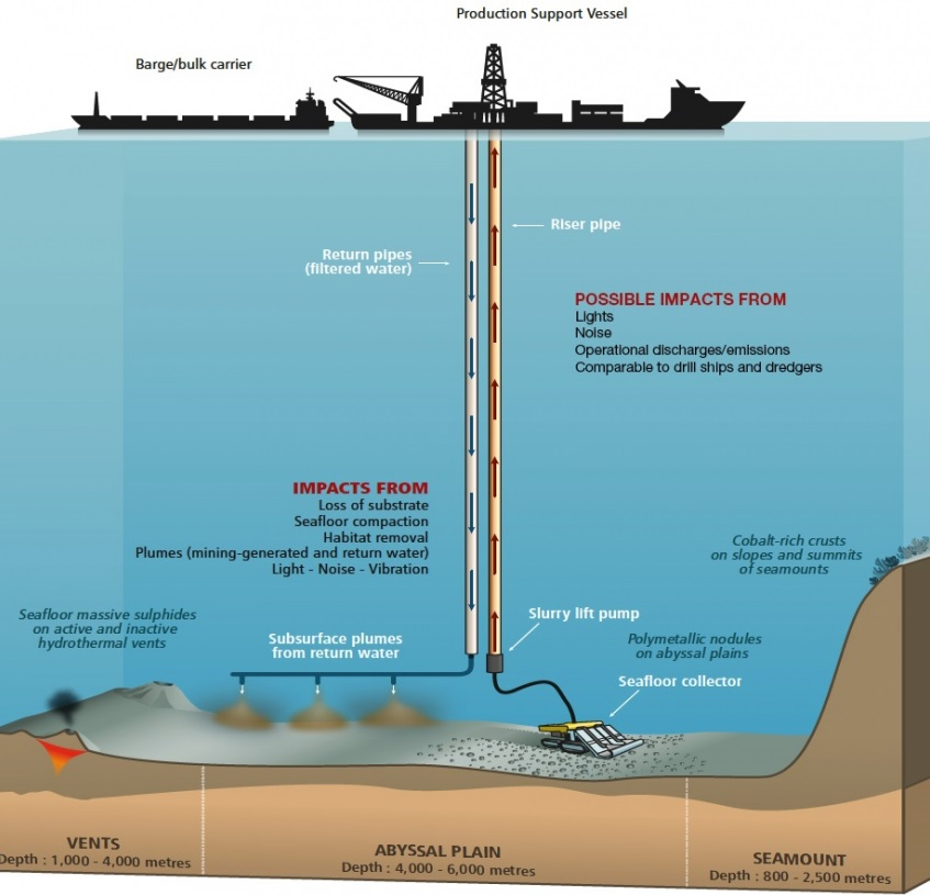 Possible environmental impacts of deep-sea mining